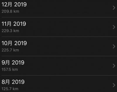 累計走行距離200km