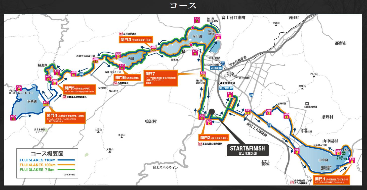 富士五湖ウルトラマラソンコース